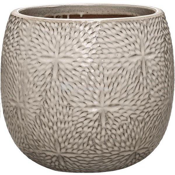 Pot Marly Cream ronde beige bloempot voor binnen en buiten 30x28 cm