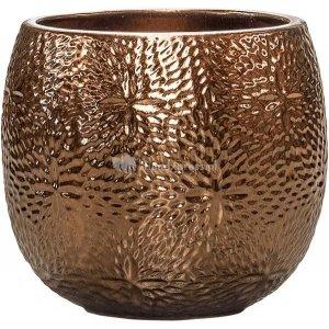 Pot Marly Gold ronde gouden bloempot voor binnen en buiten 30x28 cm