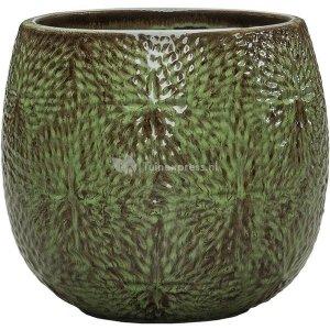 Pot Marly Green ronde groene bloempot voor binnen en buiten 30x28 cm