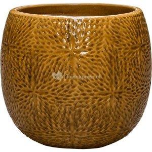 Pot Marly Honey ronde gele bloempot voor binnen en buiten 30x28 cm