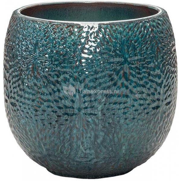 Pot Marly Ocean Blue ronde blauwe bloempot voor binnen en buiten 30x28 cm