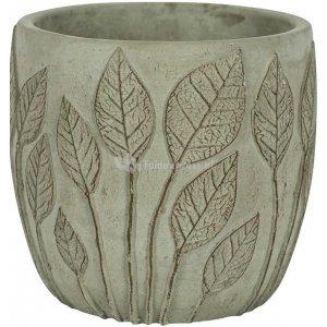 Pot Nantes Green 13x12 cm groene ronde bloempot voor binnen