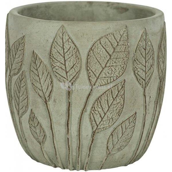 Pot Nantes Green 15x13 cm groene ronde bloempot voor binnen