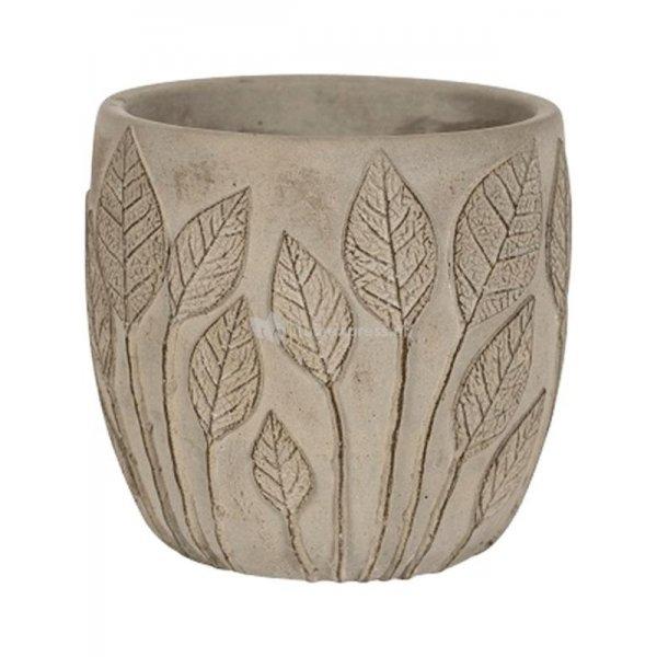 Pot Nantes Grey 18x15 cm grijze ronde bloempot voor binnen
