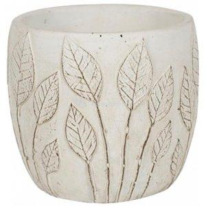 Pot Nantes White 13x12 cm witte ronde bloempot voor binnen