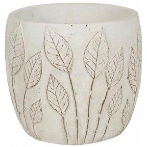 Pot Nantes White 15x13 cm witte ronde bloempot voor binnen