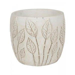Pot Nantes White 18x15 cm witte ronde bloempot voor binnen