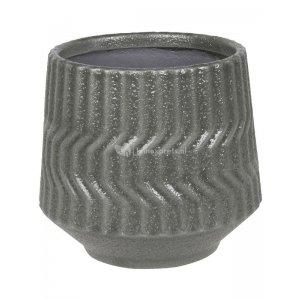 Pot Notable Dark Grey ronde bloempot voor binnen 14x12 cm grijs