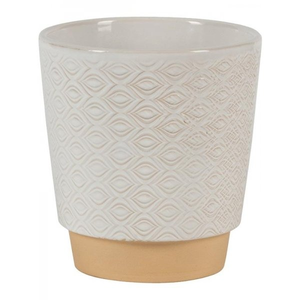 Pot Odense Eye White M 15 x 15 cm witte ronde bloempot voor binnen