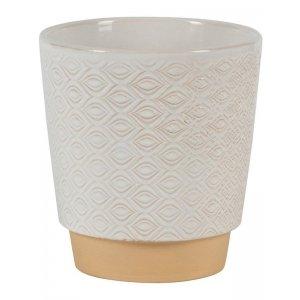 Pot Odense Eye White S 13 x 14 cm witte ronde bloempot voor binnen