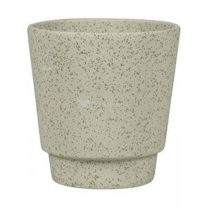 Pot Odense Plain Sand Green S 13x14 cm groene ronde bloempot voor binnen