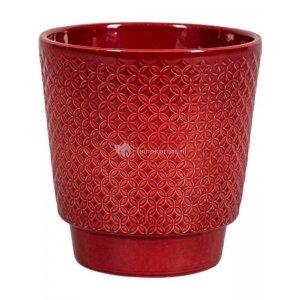 Pot Odense Star Bordeaux M 15x15 cm rode ronde bloempot voor binnen