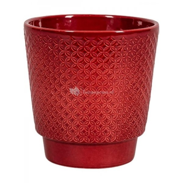 Pot Odense Star Bordeaux S 13x14 cm rode ronde bloempot voor binnen