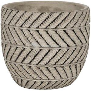 Pot Ronda Grey 17x15 cm grijze ronde bloempot voor binnen