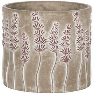 Pot Sault Purple 20x18 cm grijze ronde bloempot voor binnen