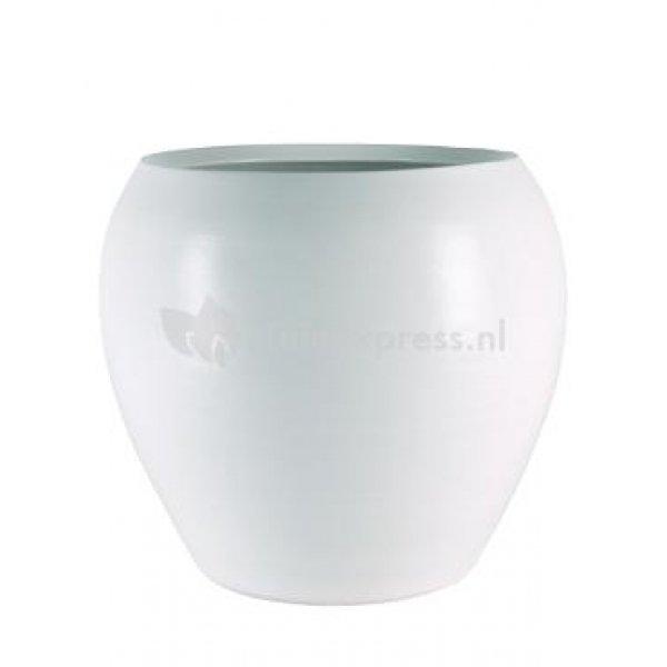Pot cresta pure white bloempot binnen 28 cm