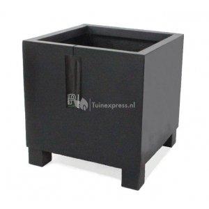 Pottery Pots Jumbo Feet square M 70x70x70 cm zwart bloempot
