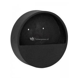 Pottery pots Natural Wally S 40x40x7 cm zwart wand bloempot