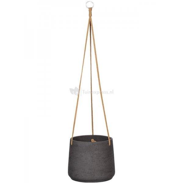 Pottery pots Rough Eco-line XL 23x20 cm Patt Black Washed hangpot