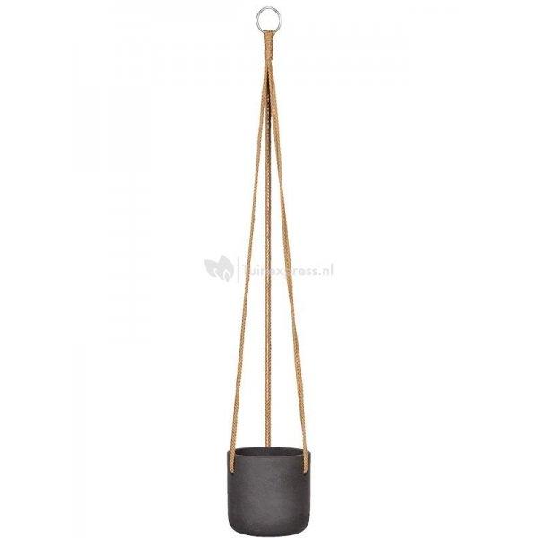 Pottery pots Rough Eco-line XS 12x12 cm Charlie Black Washed hangpot