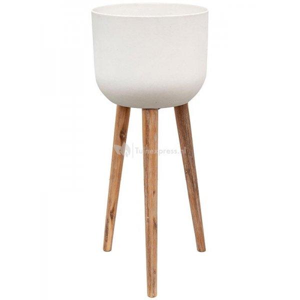 Refined Retro L 86x36 cm wit bloempot op poten