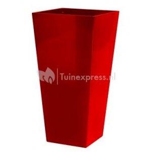 Runner bloempot vierkant rood 35 cm