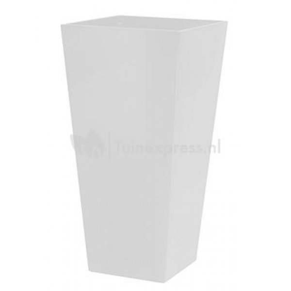 Runner bloempot vierkant wit 35 cm