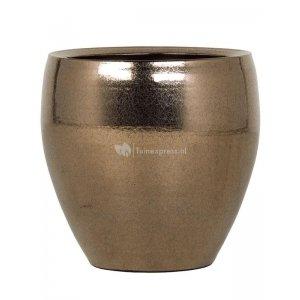 Ter Steege Amora pot 26x26x26 cm Gold bloempot binnen