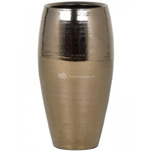 Ter Steege Amora pot high 18x18x35 cm Gold bloempot binnen