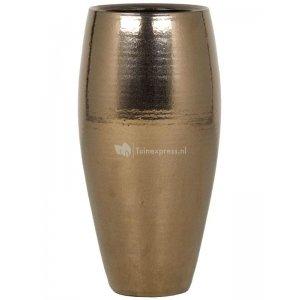 Ter Steege Amora pot high 22x22x45 cm Gold bloempot binnen