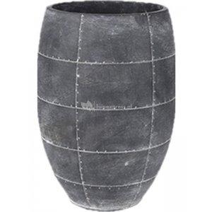 Ter Steege Detroit earth pot high 19x19x27 cm Grey hoge bloempot binnen