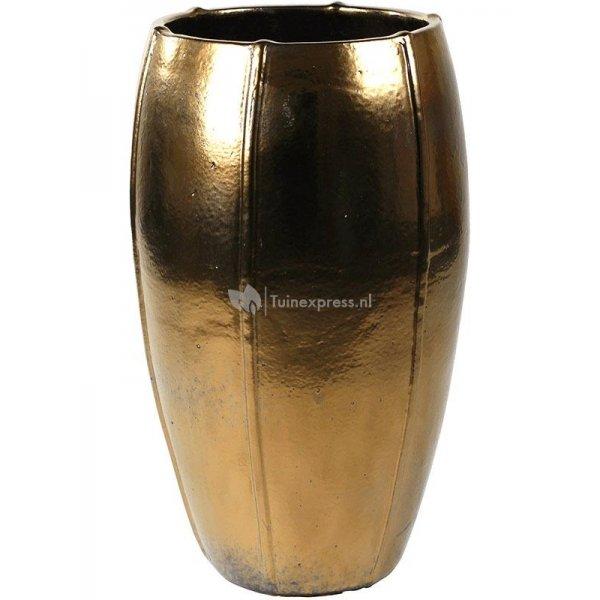 Ter Steege Moda pot high 43x43x74 cm Gold bloempot