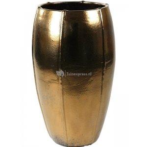 Ter Steege Moda pot high 53x53x92 cm Gold bloempot
