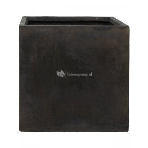 Ter Steege Static Cube L 54x54x54 cm vierkante plantenbak zwart