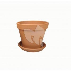 Terracotta pot 11 cm met schotel set