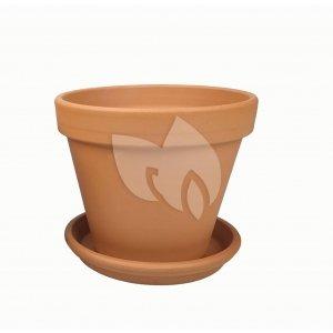 Terracotta pot 28 cm met schotel set