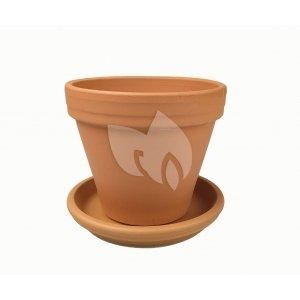 Terracotta pot 33 cm met schotel set
