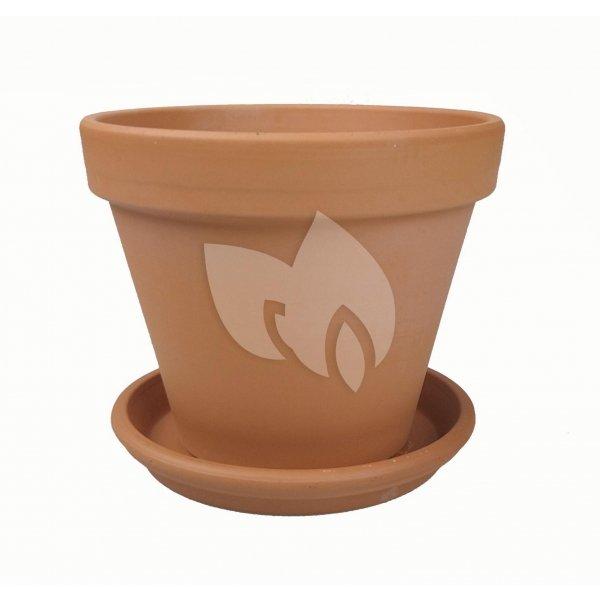 Terracotta pot 35 cm met schotel set