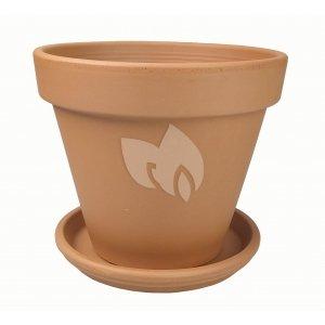 Terracotta pot 48 cm met schotel set