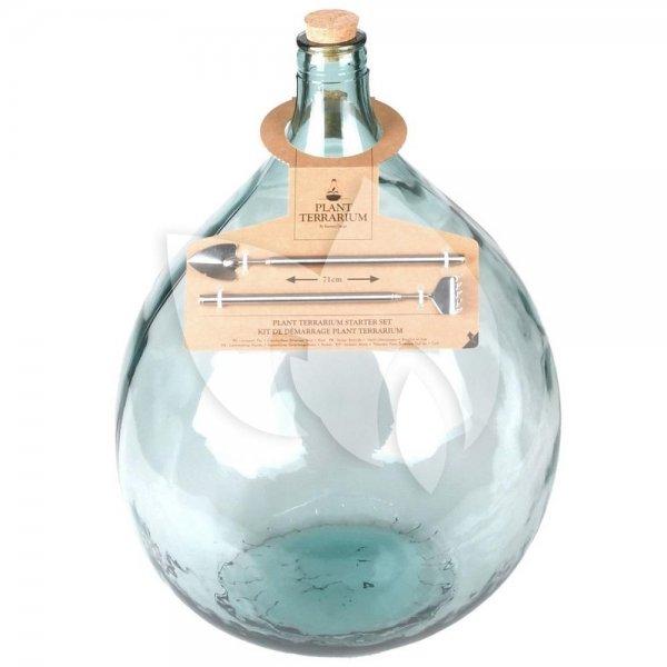 Terrarium fles L 35L 40x40x55 cm mini ecosysteem