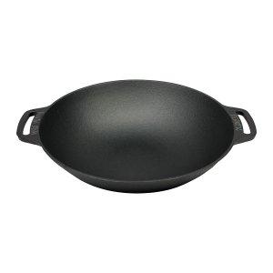 Valhal Outdoor - Wokpan met twee handvaten 36 cm