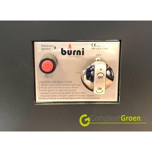 Vuurtafel Forno Brann aluminium 100x80x50cm.Terrasverwarming