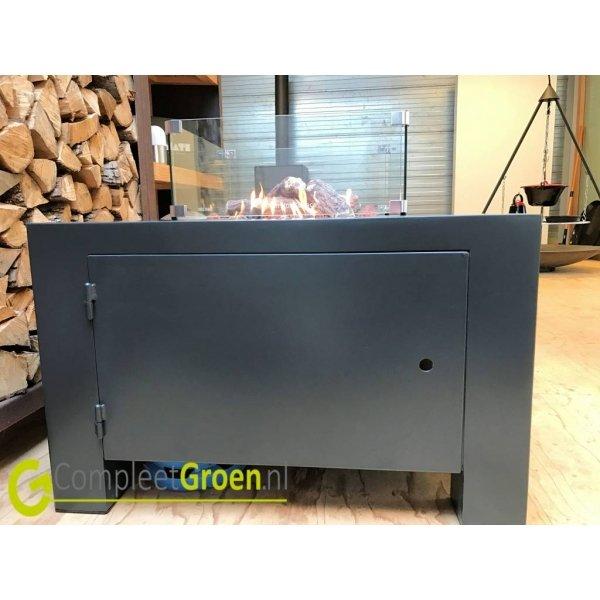 Vuurtafel Forno Brann aluminium 120x80x50cm.Terrasverwarming