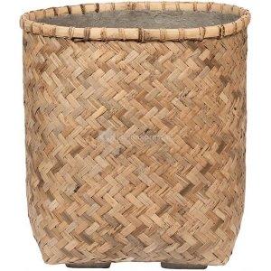 Bohemian Zayn S Bamboo ronde beige plantenbak 48x53cm voor binnen en buiten