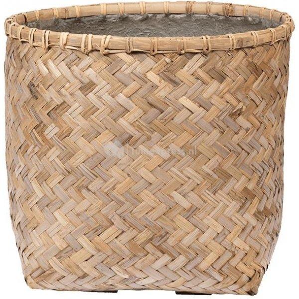 Bohemian Zayn XS Bamboo ronde beige bloempot 46x42