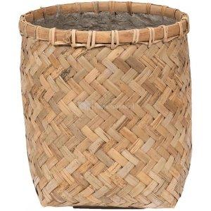 Bohemian Zayn XXXS Bamboo ronde beige bloempot 32x33cm binnen en buiten