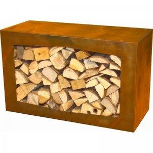 GardenmaxX - Woodbox Houtopslag van Cortenstaal