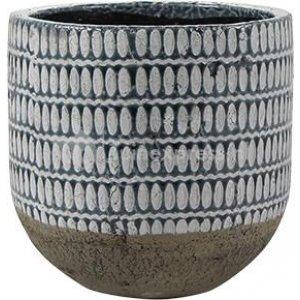 Pot Elin denim bloempot binnen 21 cm