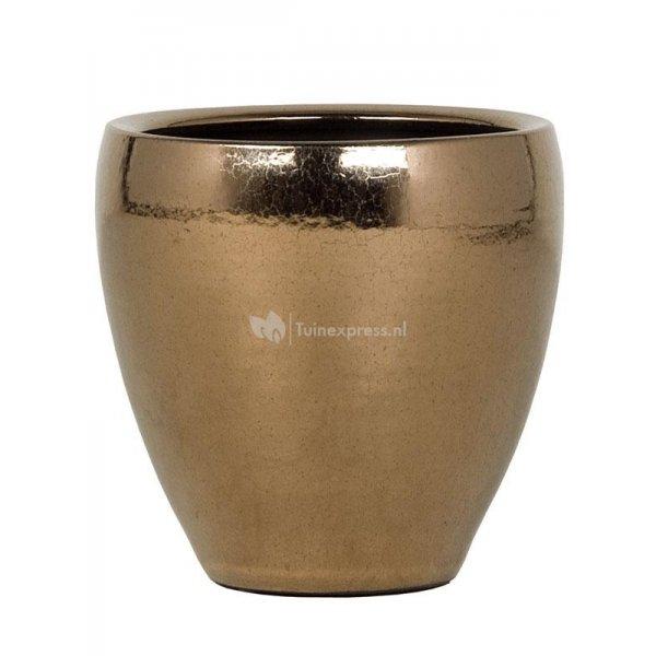 Ter Steege Amora pot 21x21x21 cm Gold bloempot binnen