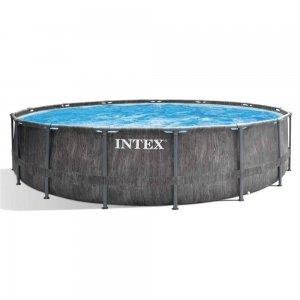 Intex Prism Frame Greywood Premium Pool - Ø 457 x 122 cm (set)